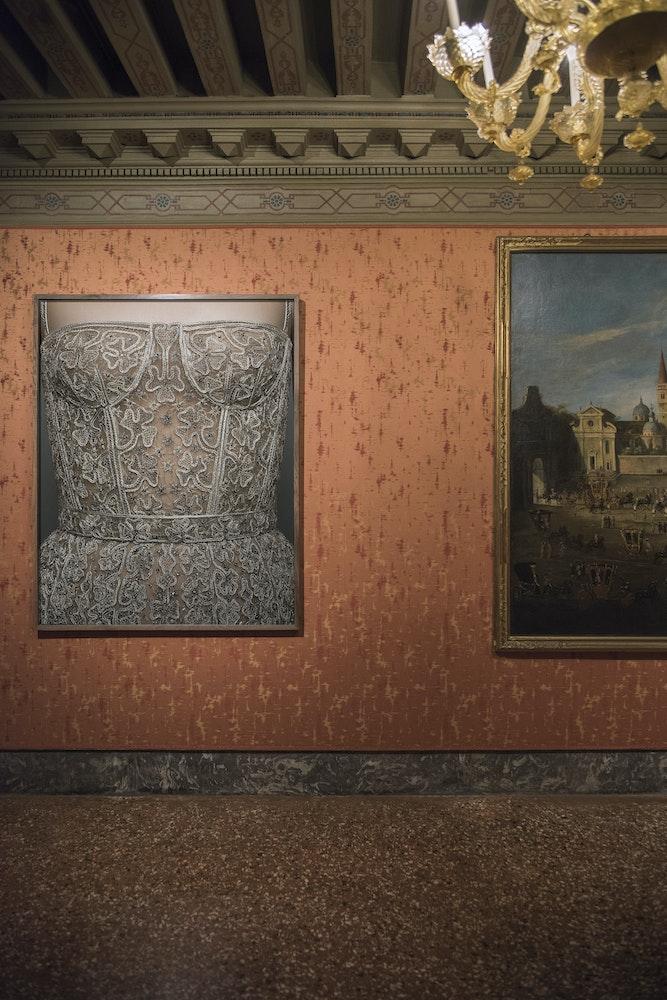 <i>Brigitte Niedermair: Me and Fashion</i> installation, Palazzo Mocenigo, Venice Biennale, 2019
