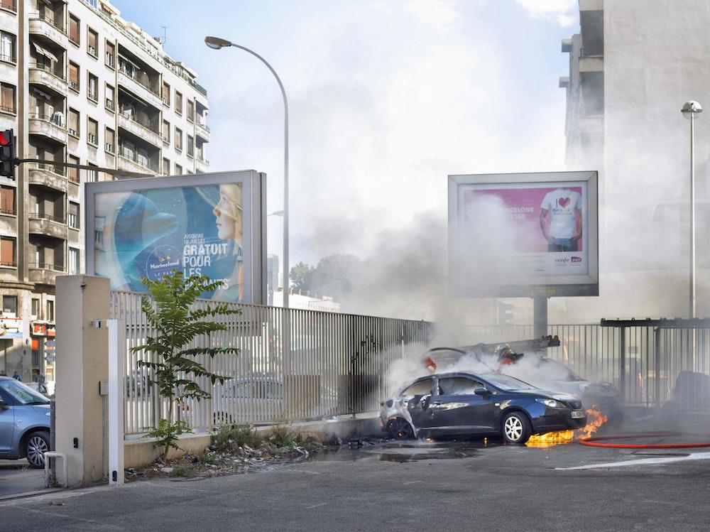 <i>Afternoon incident, Marseille, 2016, </i>Gendarme Sur La Colline (2017)