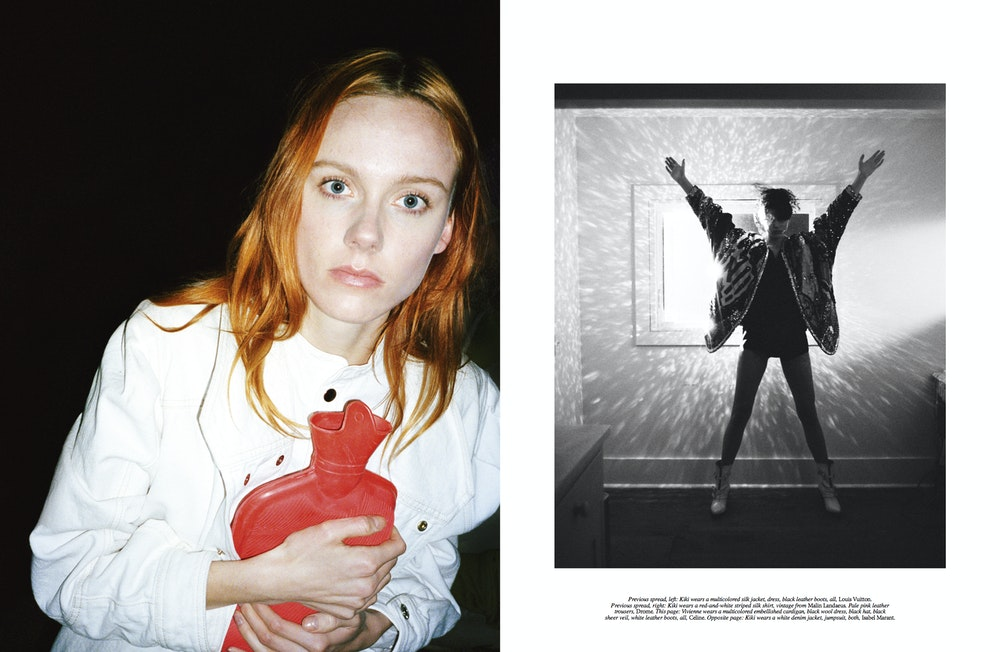 <i>Self Service</i> S/S 2019. Stylist: Melanie Ward. Subjects: Kiki Willems and Vivienne Rohner.