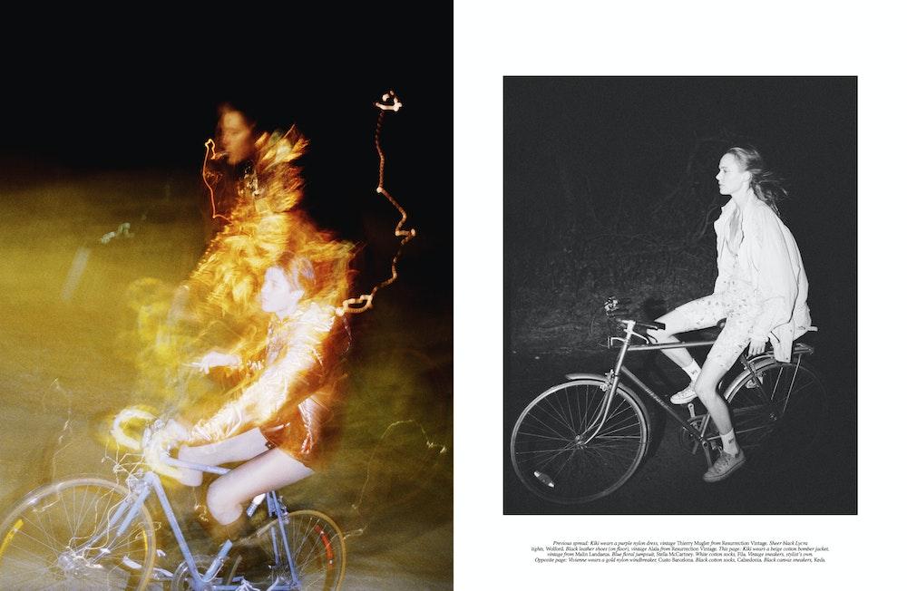 <i>Self Service</i> S/S 2019. Stylist: Melanie Ward. Subjects: Vivienne Rohner and Kiki Willems.