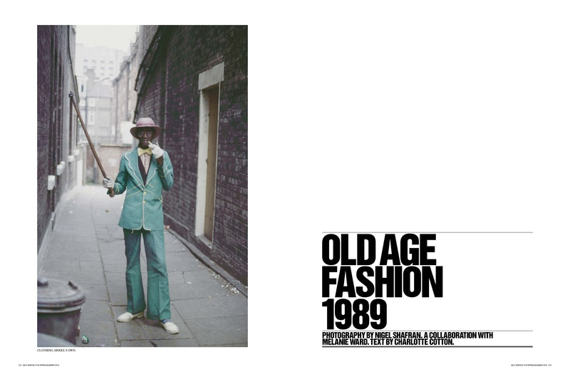 Cover image for project titled Old Age Fashion 1989: Photographs by Nigel Shafran