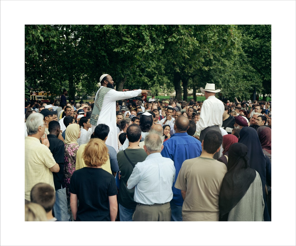 Two Americans, Speakers' Corner, 2004, Double Dactyl