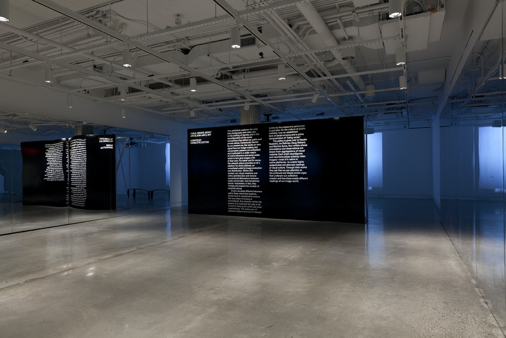 <i>Public, Private, Secret </i>installation, International Center of Photography, NY, 2016-17