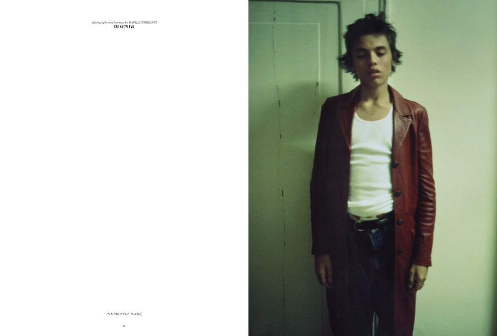 'SEE KNOW EVIL: Photography and journals by Davide Sorrenti', <i>Let's Panic</i> magazine, Fall 2016