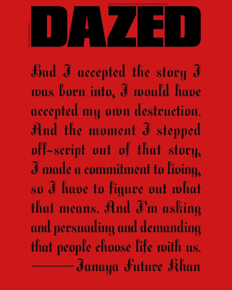 Cover art for Dazed, Autumn 2020
