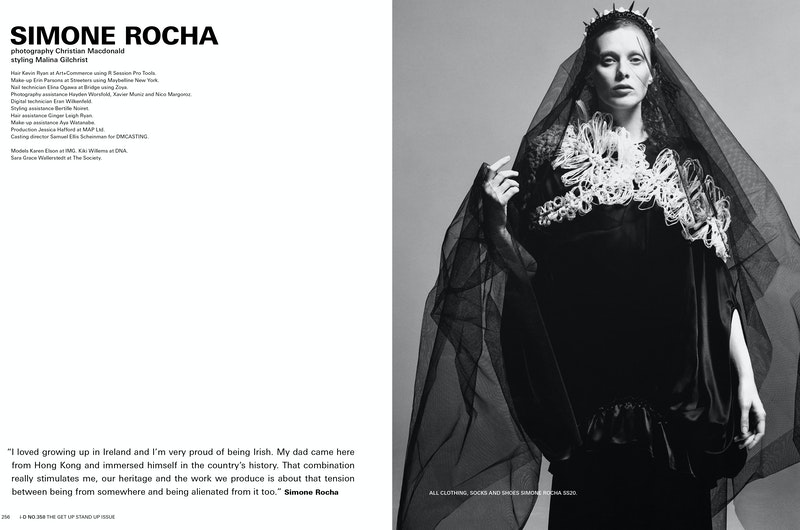 Cover image for project titled i-D Magazine 'Simone Rocha' Special.