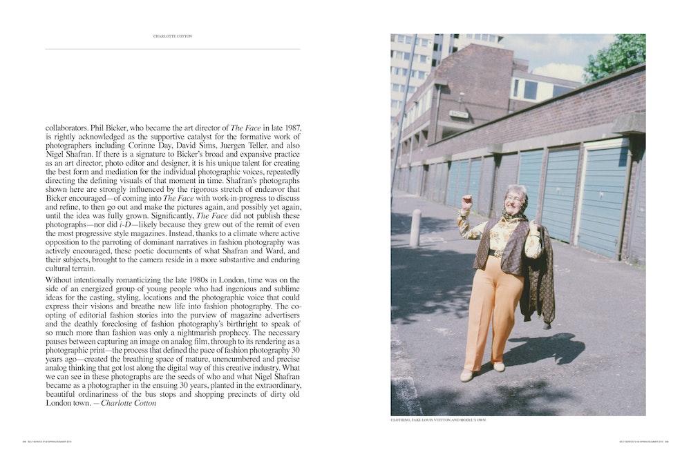 Age Old Fashion: Nigel Shafran 1989', <i>Self Service </i>magazine, September 2018