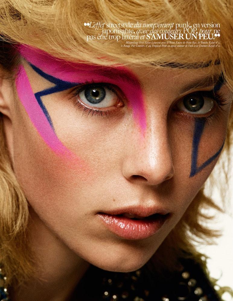 Vogue Paris Beauty, Make-up: Frankie Boyd, Stylist: Celia Azoulay.