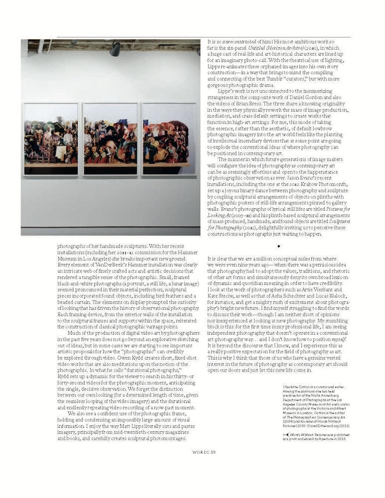 'Nine Years, A Million Conceptual Miles', <i>Aperture</i> magazine, Spring 2013