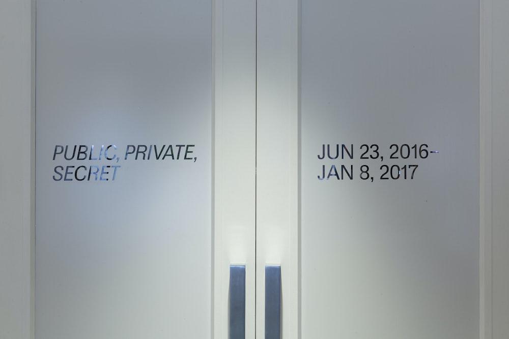 <i>Public, Private, Secret</i> installation, International Center of Photography, NY, 2016-17